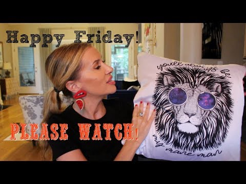 Happy Friday! Please Watch~I Would Love Your Input 😍