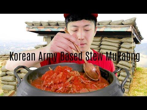 Korean Army Base Stew Mukbang!!