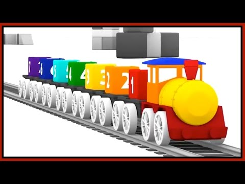 Magic Railway TRAIN DISASTER! Learn Colors CGI Cartoons for Children xe tải lớn/큰 트럭 农行
