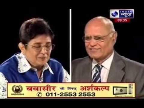 Sachchi Baat: Prabhu Chawla with Kiran Bedi