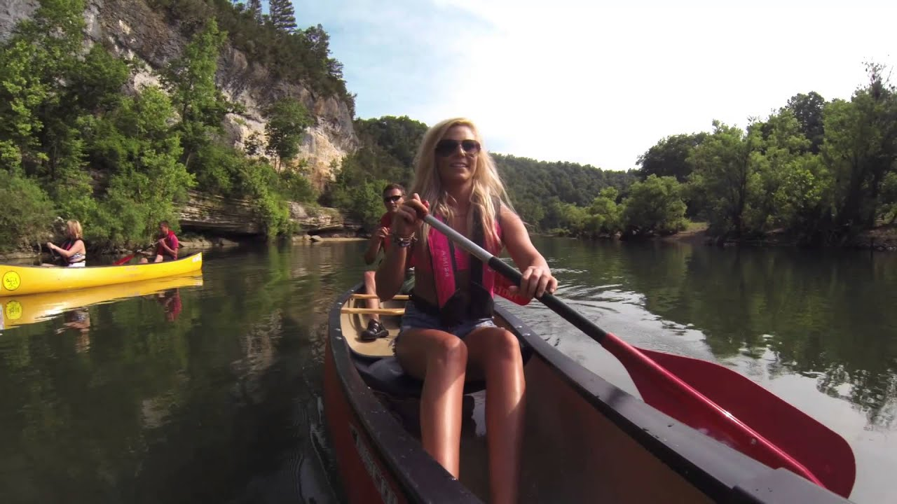 Canoeing down the Buffalo National River