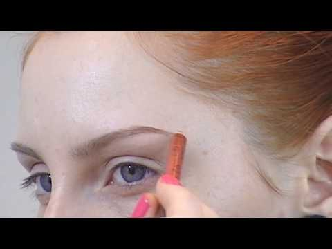 Requested updated eyebrow routine tutorial for redheads / pale, fair skin