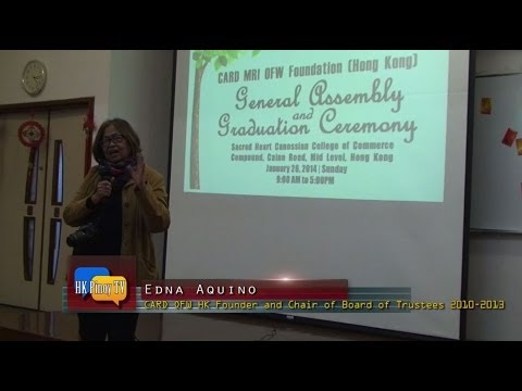 Leading micro-finance NGO for OFWs in HK holds general assembly and graduation