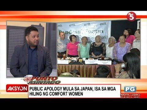 Public apology mula Japan, hiling ng Comfort Women - abogado