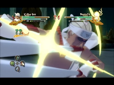 (XBOX 360) Killer Bee vs Naruto (Tailed Beast Bomb) Naruto Ultimate Ninja Storm 3
