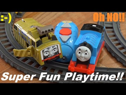 Thomas & Friends Trackmaster: Rc Thomas And Crash & Repair Diesel 10 Playtime video
