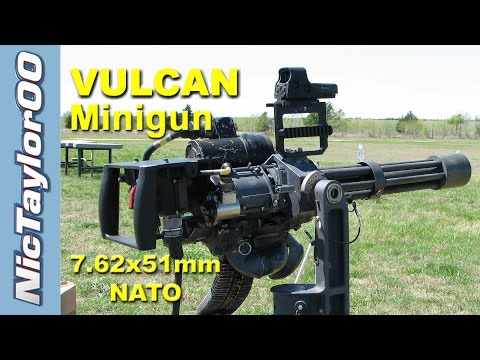 Shooting the M134 Minigun at 50 rounds per Second!