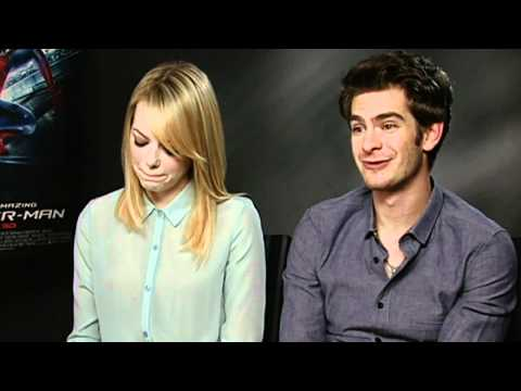 Spider-Man's Andrew Garfield and Emma Stone jokingly squabble during interview