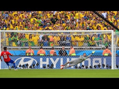 Brazil Wins In Penalty Kicks [Brazil vs Chile 2014]