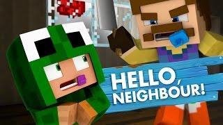 Minecraft Baby Hello Neighbour - THE NEIGHBOUR KILLS MY FRIEND!
