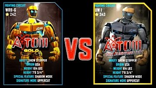 REAL STEEL WRB ATOM GOLD (251) VS Atom (343) New Robots UPDATE (Живая сталь)