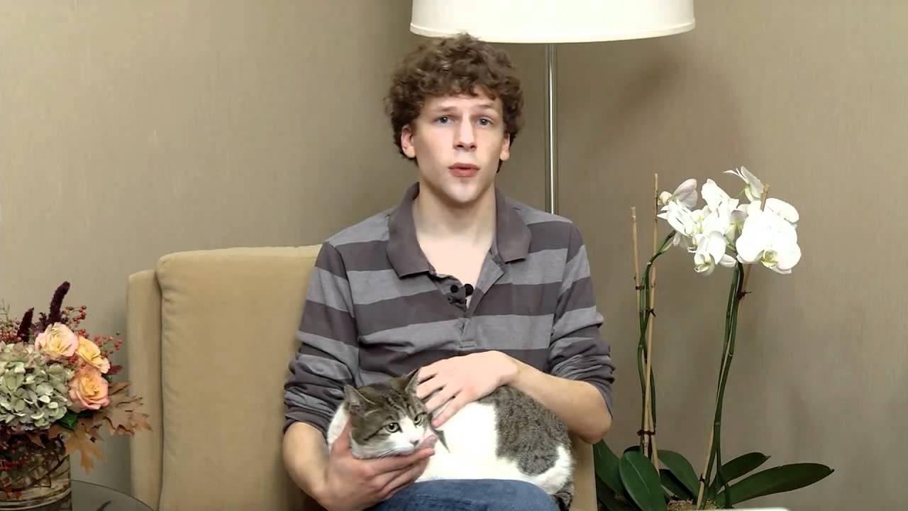 Jesse Eisenberg for the Washington Animal Rescue League ... Jesse Eisenberg Cats
