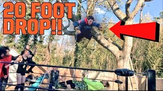 INSANE DIVE OUT OF TREE THROUGH A TABLE! CRAZIEST HARDCORE WRESTLING CHAMPIONSHIP MATCH EVER!