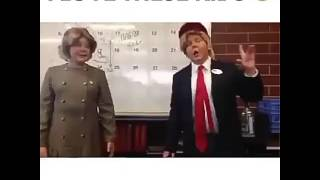 Trump and Hillary Clinton were once kids