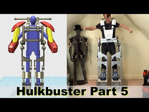 XRobots -  Iron Man HULKBUSTER Cosplay Part 5 - Mechanical latches for the frame