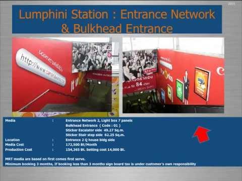 Bangkok subway metro MRT ad space formats and options   SovereignAd