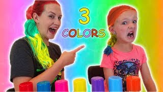 3 Color of Hair Dye Challenge With My Mom!!