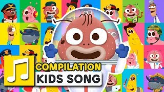 GREAT JOBS IN THE WORLD COMPILATION | LARVA KIDS | SUPER BEST SONGS FOR KIDS |  LEARNING SONG