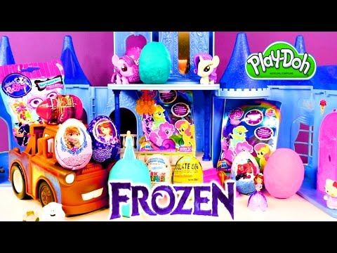 Frozen Spongebob Barbie My Little Pony Cars Sofia The First Play Doh Kinder Surprise Eggs By Dctc video