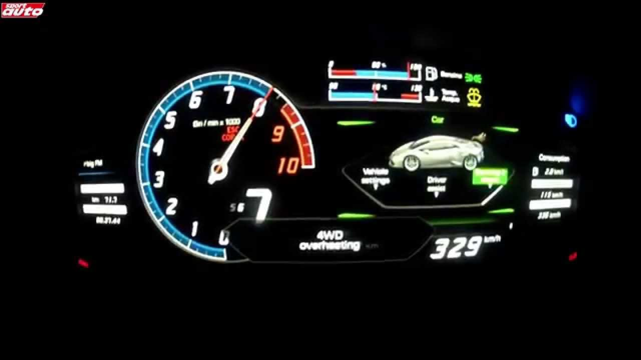0 340 Km H Lamborghini Hurac 225 N Launch Control Test Sport Auto Youtube