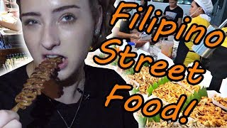 PINOY STREET FOOD IS INSANE! CHICKEN INTESTINES ON A STICK!