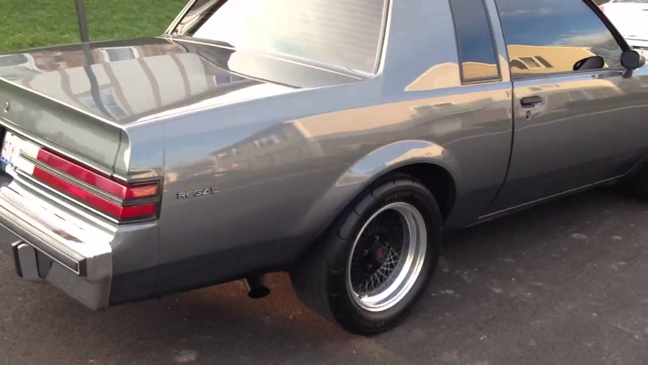 1987 Buick Regal T Type Youtube