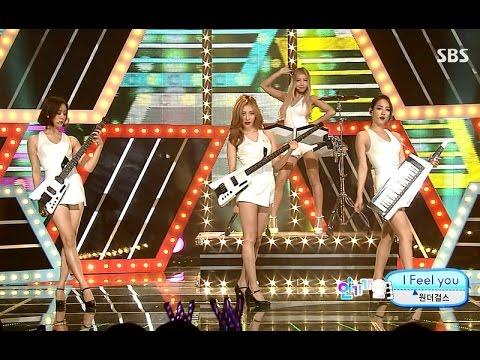 """원더걸스(Wonder Girls) """"Candle"""" & """"I Feel You"""" Comeback Stage @ SBS Inkigayo 2015.08.09"""