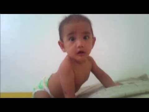 5 Months old Pinoy baby Talking