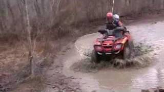 4 Wheeling in Mud Puddles in West Virginia 02/20/2011