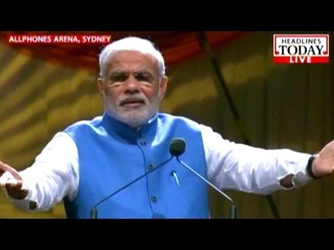 Narendra Modi Sydney Allphones Arena speech Part 2