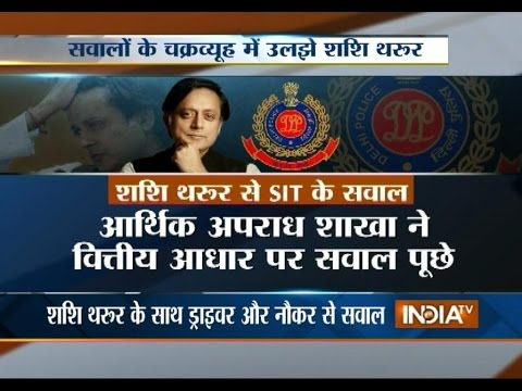 Sunanda Pushkar case: SIT grills Shashi Tharoor for 7 hours
