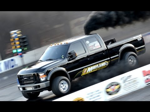 KING KONG - 10 second diesel truck drag race - Maryland Performance Diesel 1/4 mile