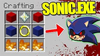 HOW TO SUMMON SONIC.EXE - MINECRAFT CRAFTING KILLER SONIC THE HEDGEHOG