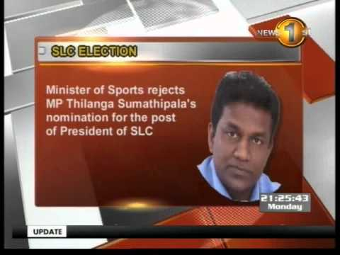 Sumathipala's nominations for post of SLC President rejected