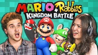 MARIO + RABBIDS KINGDOM BATTLE! (College Kids React: Gaming)