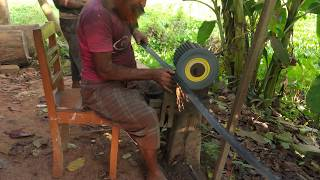 Wood Cutting Blade Sharping by Primitive Technology || Wood Cutting in Bangladesh Asia