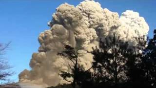 In Japan the eruption of the volcano Sinmoe dake 2011