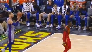 Blake Griffin Hits Dennis Schroder in the Head with Ball!  Pistons vs Hawks February 11, 2018