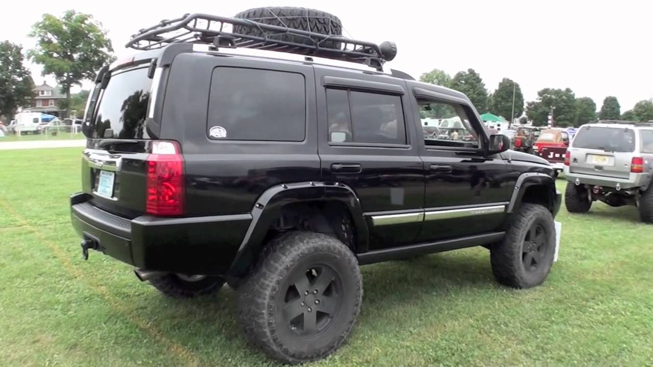 Jeep Commander Xk On Big Lift And 35 Inch Tires Youtube