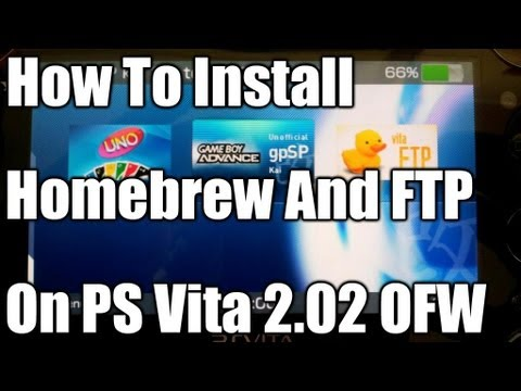 How To Install Homebrew And FTP On PS Vita 2.02 OFW