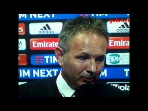 Milan Juventus 1 2 - Mihajlović si poteva pareggiare, deluso a Sky Sport