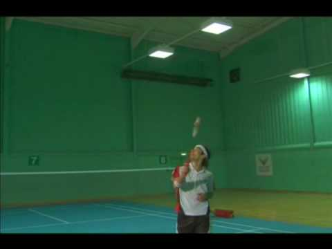 Badminton Techniques Backhand clear