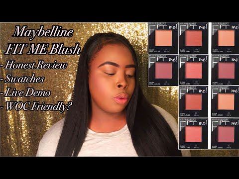 MAYBELLINE FIT ME Blushes (Review, Swatches & Demo)
