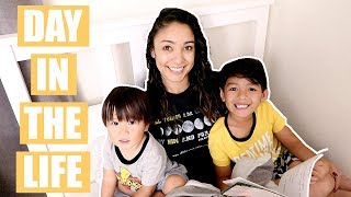 A REAL DAY IN THE LIFE OF A MOM OF 2! | Mel and Shane