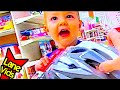 BIKE SHOPPING WITH A 2-YEAR OLD!!! | LaneVids & TheFunnyrats