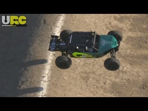 Axial EXO buggy on a 1/10th scale track -- no music/editing