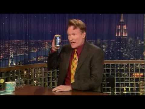 Conan O'Brien drinks Lapin Kulta (Finnish beer)