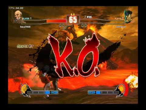 Street Fighter 4 Casuals - Gouken ( RuLeZ ) vs. Bison ( God two Nil )