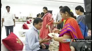 KTR Take Blessings From Family Members | TRS Working President