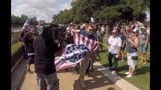 """""""This is Texas"""" kicks out White Supremacist from Anti Antifa Rally"""